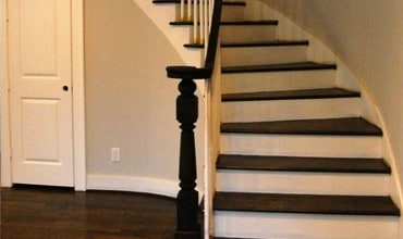 Restored victorian staircase