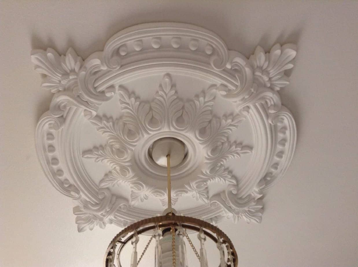 72cm Polycarbonate Decorative Ceiling Rose The Period